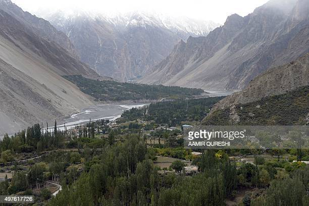 To go with PakistaninternetEUagricultureeducation FEATURE by Guillaume LAVALLÉE This photograph taken on September 28 2015 shows a general view of...