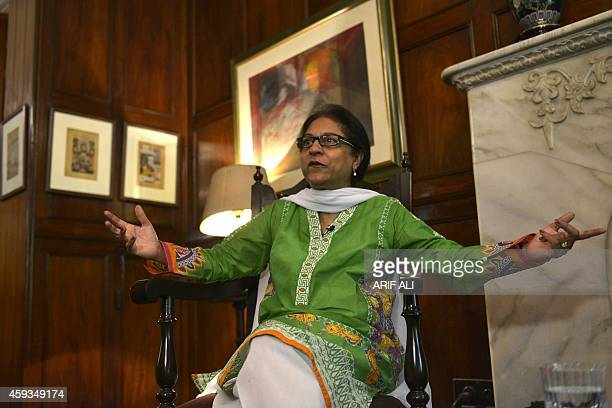 To go with 'Pakistanrightswomenreligionblasphemy' INTERVIEW by Gohar ABBAS In this photograph taken on October 4 Pakistani leading human rights...