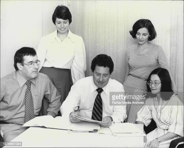 To Go with Story about the Office of the Counsellor for Equal OpportunityPic Shows L to R Les Megowan Alison Ziller Geoff Cahill June Surtees Irene...
