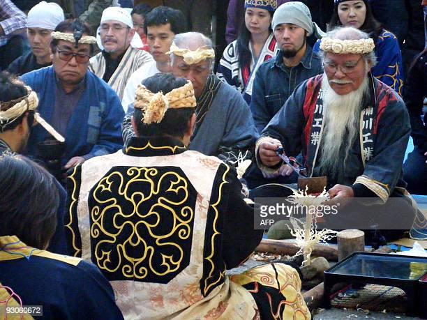 To go with story JapanpoliticscultureminorityAinu by Scilla Alecci In a picture taken on November 1 Haruzo Urakawa the chairman of Japan's minority...