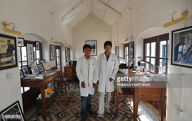 To go with story 'LifestyleNepalUSfashionEverest' by Frankie Taggart Nepalese watchmakers Ang Namgel Sherpa and Lakpa Thundu Sherpa are pictured at...