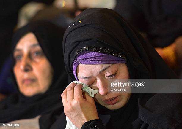To go with story 'PakistanFranceunrestattacks' In this photograph taken on November 16 Pakistani mother of a student Ali who was killed during an...