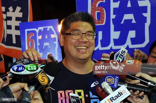 To go with TaiwanpoliticsvotemayorFOCUS by Amber Wang In this picture taken on November 25 Sean Lien a Taipei mayor candidate from the ruling...