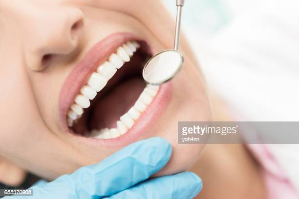 to have a healthy teeth ! - denti foto e immagini stock