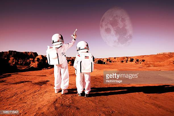 to infinity and beyond! - mars stock pictures, royalty-free photos & images