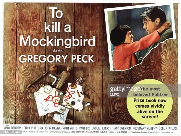 To Kill A Mockingbird lobbycard from left Mary Badham Gregory Peck 1962