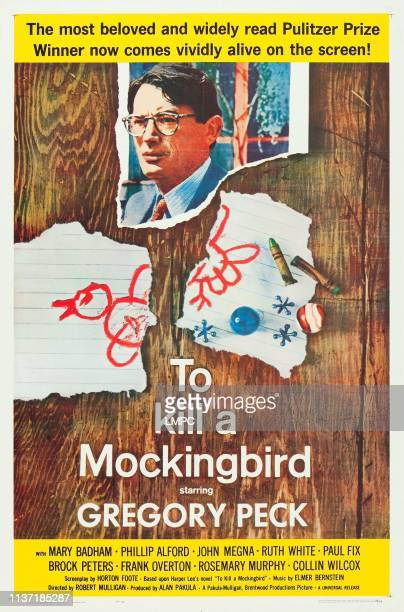 To Kill A Mockingbird poster Gregory Peck 1962