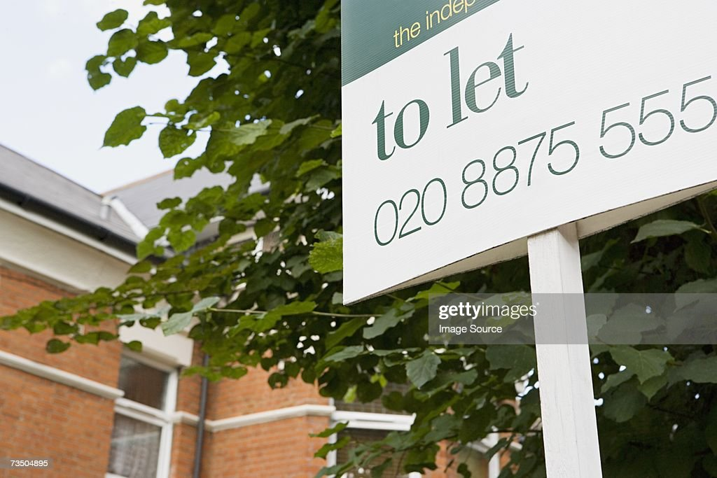 To let sign : Stock Photo