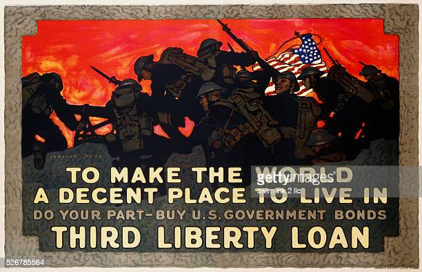 To Make the World a Decent Place to Live in Third Liberty Loan Poster by Herbert Paus
