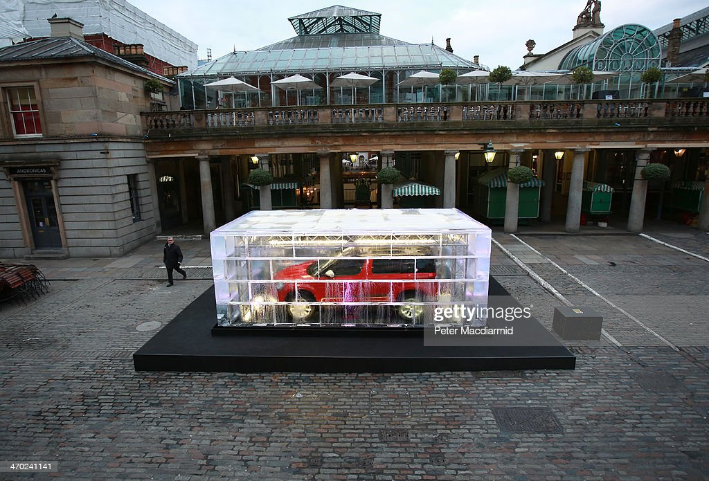 To mark its launch, a SKODA Yeti Outdoor is encased in ice on February 19, 2014 in Covent Garden, London, England. Since its original launch in 2009, more than 29000 Yetis have found homes in the United Kingdom.