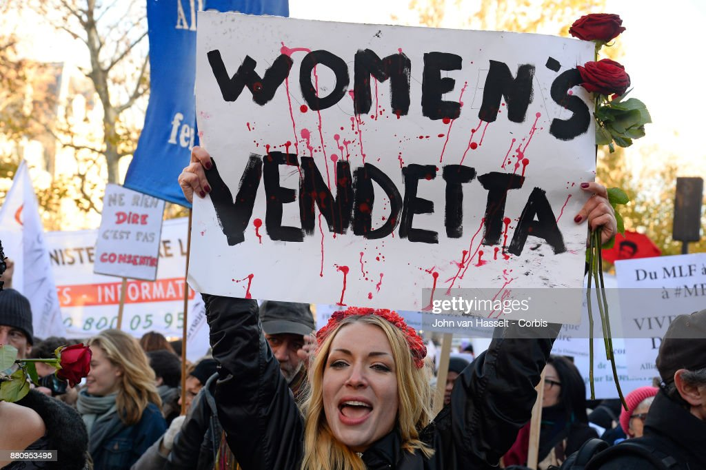 International Day To End Violence Against Women Marked In Paris : News Photo