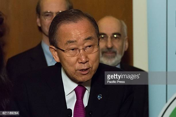 To mark the occasion of the Paris Climate Agreement's entry into force United Nations SecretaryGeneral Ban Kimoon attended a meeting of civic society...