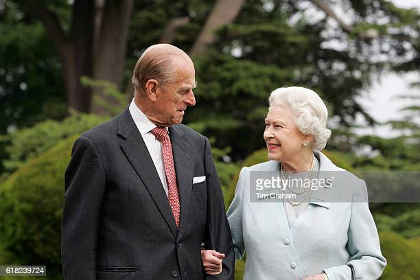 To mark their Diamond Wedding Anniversary on 20th November 2007 HM Queen Elizabeth II and Prince Philip The Duke of Edinburgh revisit Broadlands...