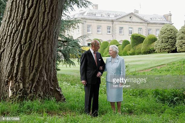 To mark their Diamond Wedding Anniversary on 20th November 2007 HM Queen Elizabeth II and Prince Philip The Duke of Edinburgh revisit Broadlands...