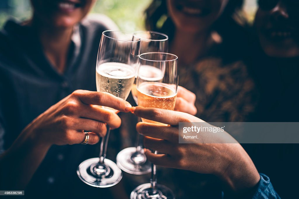 To our friendship! : Stock Photo