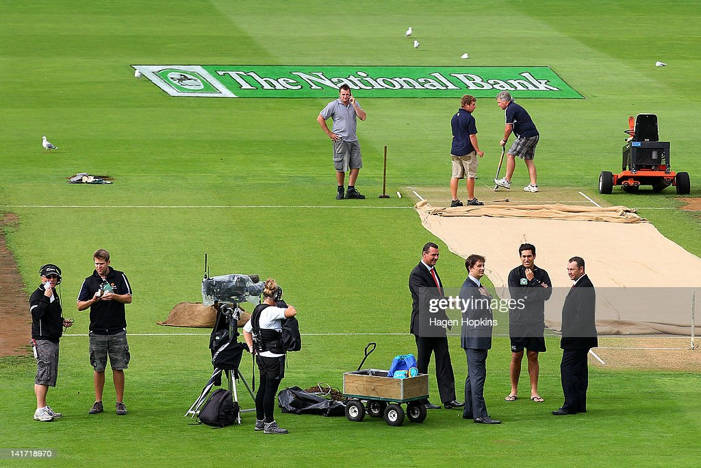 New Zealand v South Africa - 3rd Test: Day 1