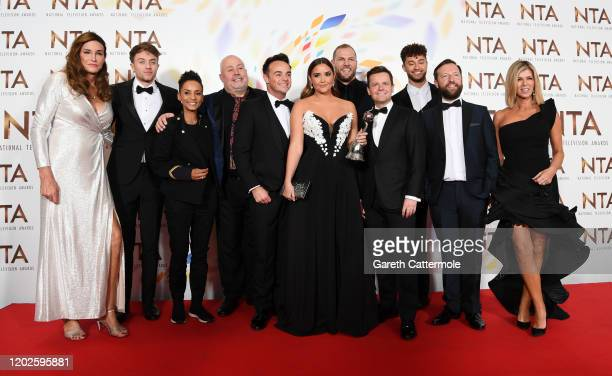 L to R Caitlyn Jenner Roman Kemp Adele Roberts Cliff Parisi Anthony McPartlin Jacqueline Jossa James Haskell Declan Donnelly Myles Stephenson Andrew...