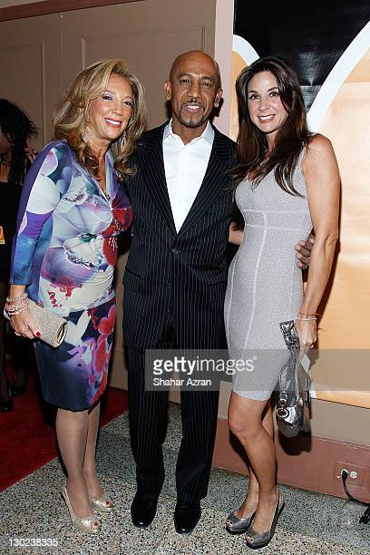L to R Denise Rich Montel Williams and wife Tara Williams attends the We Are Family Foundation 10 Year Celebration Gala at the Hammerstein Ballroom...