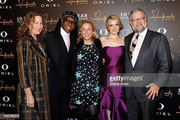 L to R Dianna Cohen Nile Rodgers Susan Cohn Rockefeller nancy Hunt and David Rockefeller Jr attends the We Are Family Foundation 10 Year Celebration...