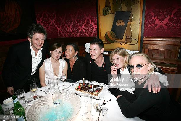 Director Roman Polanski his wife actress Emmanuelle Seigner cinema critic Elisabeth Quin and singers Etienne Daho Christophe and Marianne Faithfull...