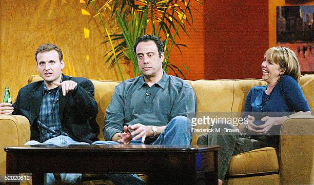 L to R Executive Producer Phil Rosenthal Brad Garrett and Monica Horan speak during the CBS 2005 Television Critics Winter Press Tour at the Hilton...