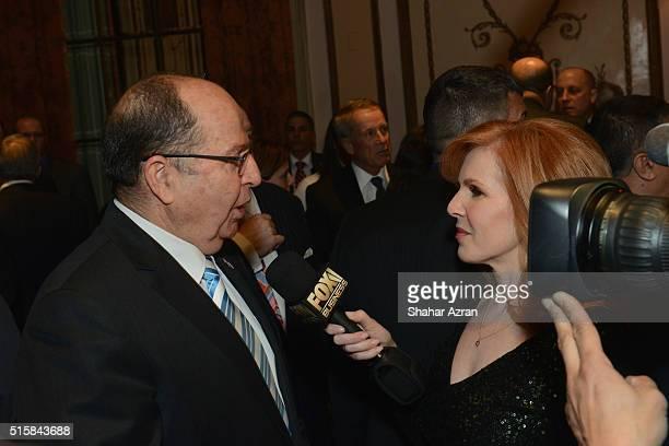 L to R Israel Defense Minister Moshe Ya'alon and Liz Claman FOX Business Network attend the 2016 Friends Of The Israel Defense Forces Gala at The...