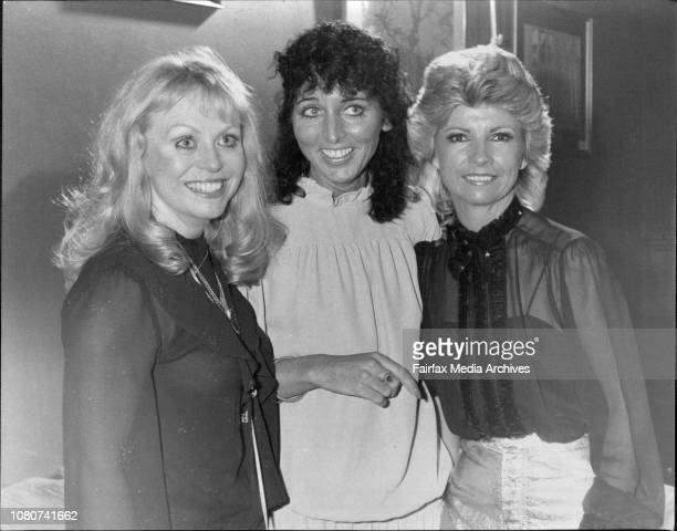 L to R Jackie Weaver Maureen O'Keefe Judy StoneA rememberence party for Johnny O'Keefe held at the Jamerson St Club SydneyMaureen O'Keefe with Judy...