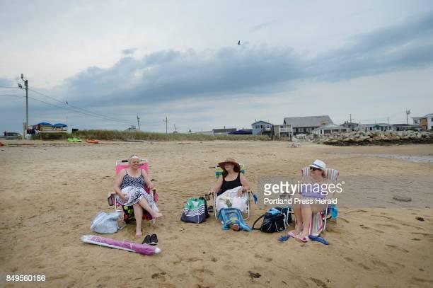 L to R Julieann Ciccarelli of Wareham Massachusetts Miriam Trainer of Watertown Massachusetts and Gina Hughes of Medford Massachusetts have the beach...