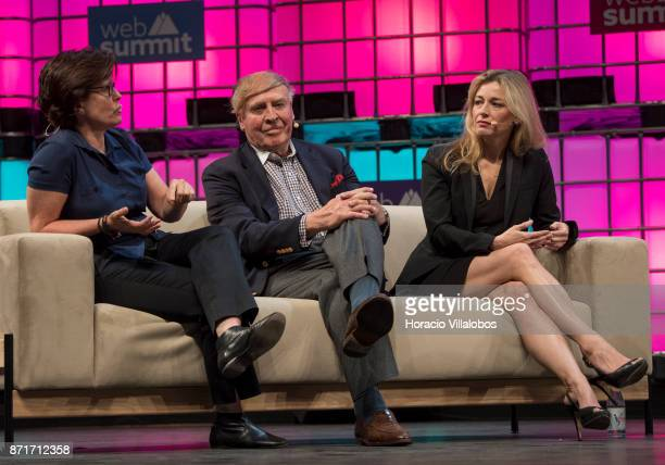 L to R Kara Swisher Executive Editor Recode Dick Kramlich Founder New Enterprise Associates and Christine Herron Mentor StartX discuss on 'Sexism in...
