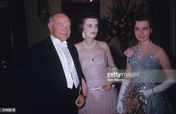 L to r Lord Beaverbrook the Duchess of Argyll and her daughter Frances Sweeny at a party held for Francis at Claridges hotel in London