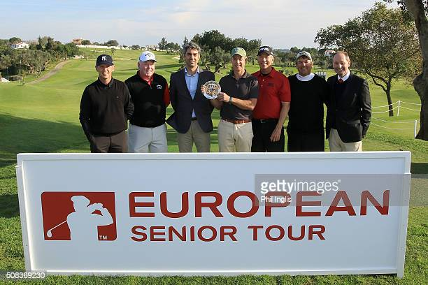 L to R Magnus P Atlevi of Sweden Brendan McGovern of Ireland Rui Gago Golf Director Pestana Group Gary Marks of England Barry Conser of United States...