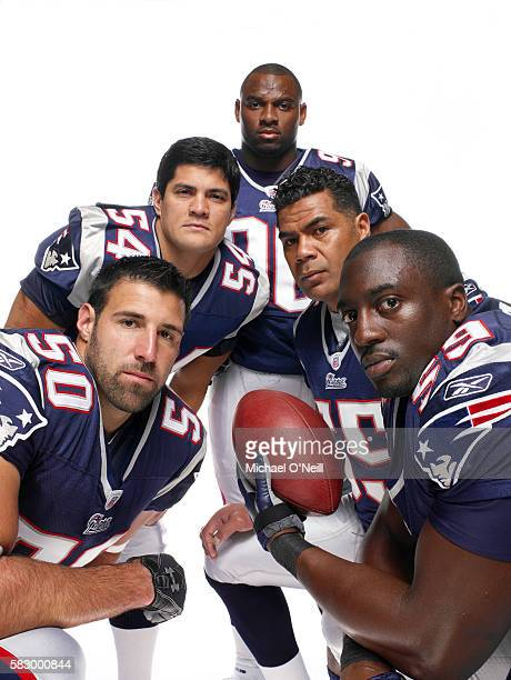 Mike Vrabel Tedy Bruschi Adalius Thomas Junior Seau and Rosevelt Colvin