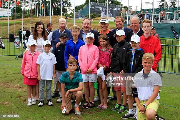 L to R MSP Tasmina AhmedSheikh John Jermine Captain Sunningdale Golf ClubAlex Salmond MP Bernhard Langer of Germany George O'Grady Chief Executive...