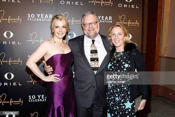L to R Nancy Hunt David Rockefeller and Susan Cohn Rockefeller attends the We Are Family Foundation 10 Year Celebration Gala at the Hammerstein...