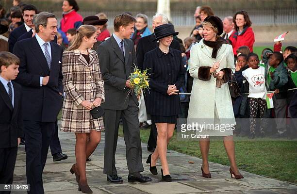 L To R Prince Philippos Of Greeceking Constantine Of Greece Princess Theodora Of Greece Prince William Zara Phillips Queen Annemarie Of Greece...