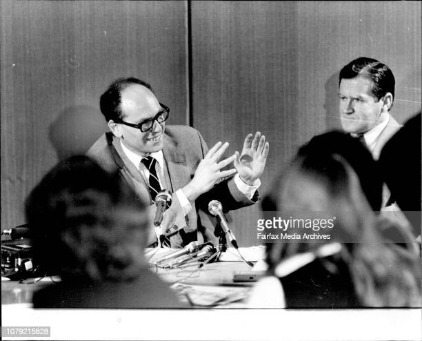 L to R Prof Michael Levin amp Rev Fred NileFred Nile press conference to introduce Anti Feminist Prof Michael Levin at NSW Parl houseSexual...