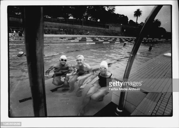 L to R Ray Argu Bill Amundsen Su Langker at The Boy Charlton Pool January 20 1993