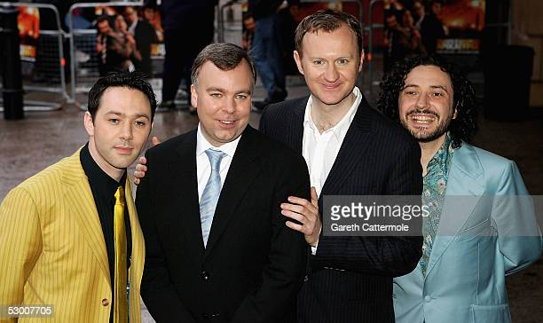 L to R Reece Shearsmith Steve Pemberton Mark Gatiss and Jeremy Dyson arrive at the UK premiere for The League Of Gentlemen's Apocalypse at Vue...