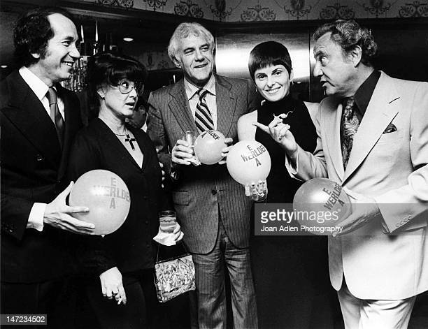 To R - Singer, Musician, Actor: Trini Lopez, Actress, Michele Triola Marvin, Atty. Marvin Mitchelson, Atty. Gloria Allred, Chairman for ERA and...