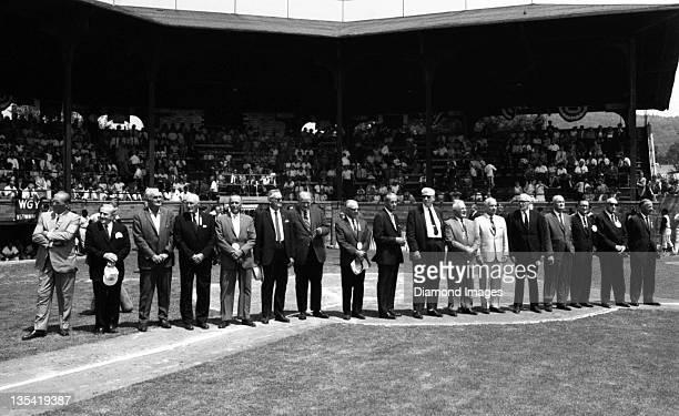 To R0 Baseball Hall of Famers Red Ruffing, Casey Stengel, Heinie Manush, Sam Rice, Edd Roush, Max Carey, Joe Cronin, Ray Schalk, Charlie Gehringer,...
