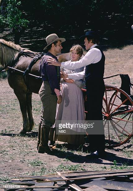 PRAIRIE To Run and Hide Episode 7 Pictured Michael Pataki as Stanley Novack Collin Wilcox Paxton as Beth Novak Kevin Hagen as Doctor Hiram Baker...