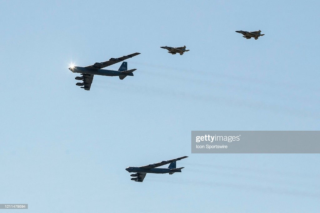 NEWS: MAY 01 Military Flyover in Baton Rouge : News Photo