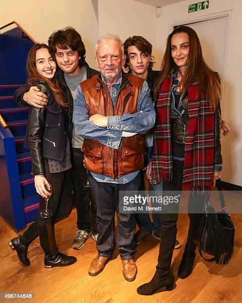 to Sarah Stanbury Fenton Bailey David Bailey Fenton Bailey and Catherine Bailey attend the launch of David Bailey's new book Tears And Tears at the...