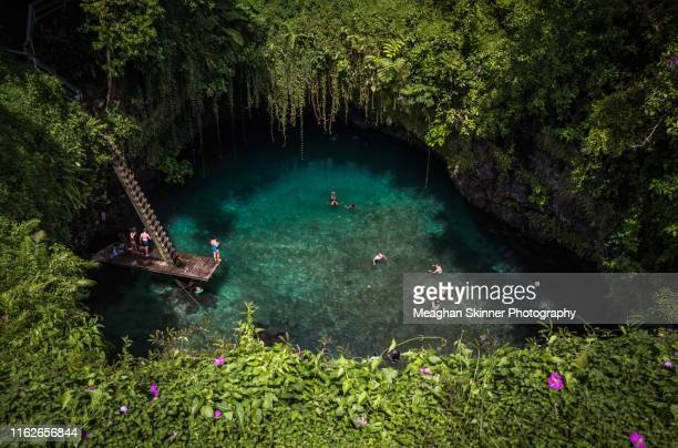 to sua ocean trench - samoa stock pictures, royalty-free photos & images