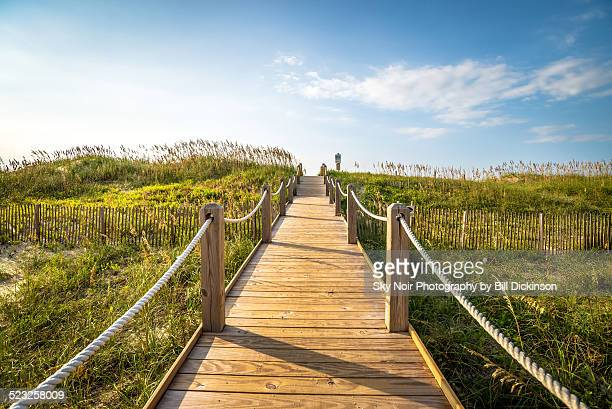 to the beach - cape hatteras stock pictures, royalty-free photos & images