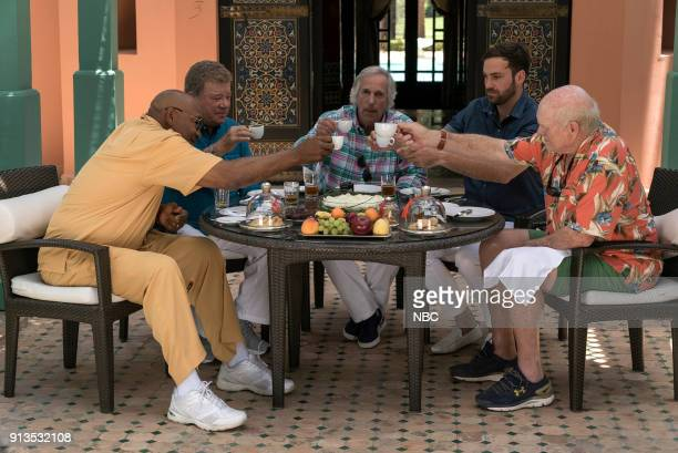NEVER 'To the Sahara and Back' Episode 208 Pictured George Foreman William Shatner Henry Winkler Jeff Dye Terry Bradshaw