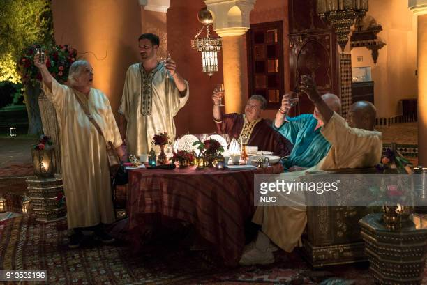 NEVER 'To the Sahara and Back' Episode 208 Pictured Henry Winkler Jeff Dye William Shatner Terry Bradshaw George Foreman