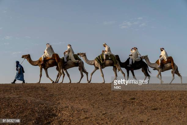 NEVER 'To the Sahara and Back' Episode 208 Pictured Terry Bradshaw Henry Winkler Jeff Dye William Shatner George Foreman