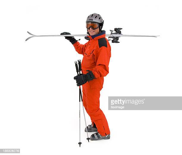 to the slopes - ski wear stock pictures, royalty-free photos & images