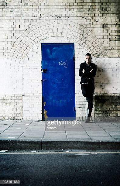 to the wrong side of the blue door